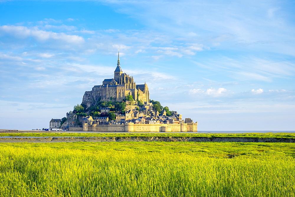 Le Mont-Saint-Michel, UNESCO World Heritage Site, Manche, Normandy, France, Europe - 1217-389