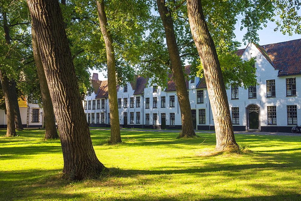Begijnhof (Beguinage) of Bruges, UNESCO World Heritage Site, Bruges (Brugge), West Flanders (Vlaanderen), Belgium, Europe - 1217-429