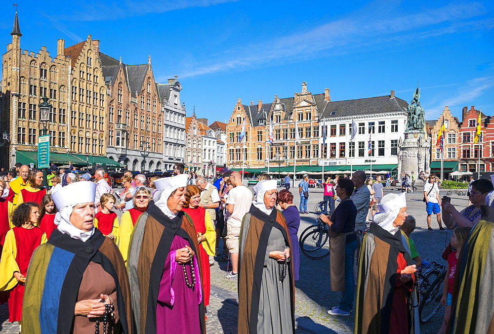Procession of the Holy Blood (Heilig Bloedprocessie) Catholic procession on Ascension Day, Bruges, West Flanders, Belgium, Europe