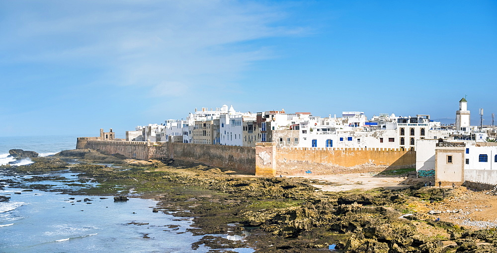 Medina old town, protected by 18th-century seafront ramparts, Skala de la Kasbah, Essaouira, Marrakesh-Safi Region, Morocco, North Africa, Africa - 1217-504