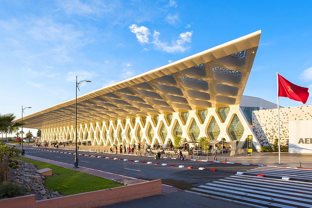 Terminal building at Marrakesh Menara Airport, Marrakesh, Morocco, North Africa, Africa