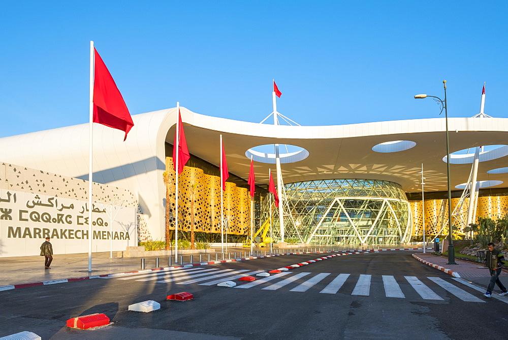 Terminal buildings at Marrakesh Menara Airport, Marrakesh, Morocco, North Africa, Africa