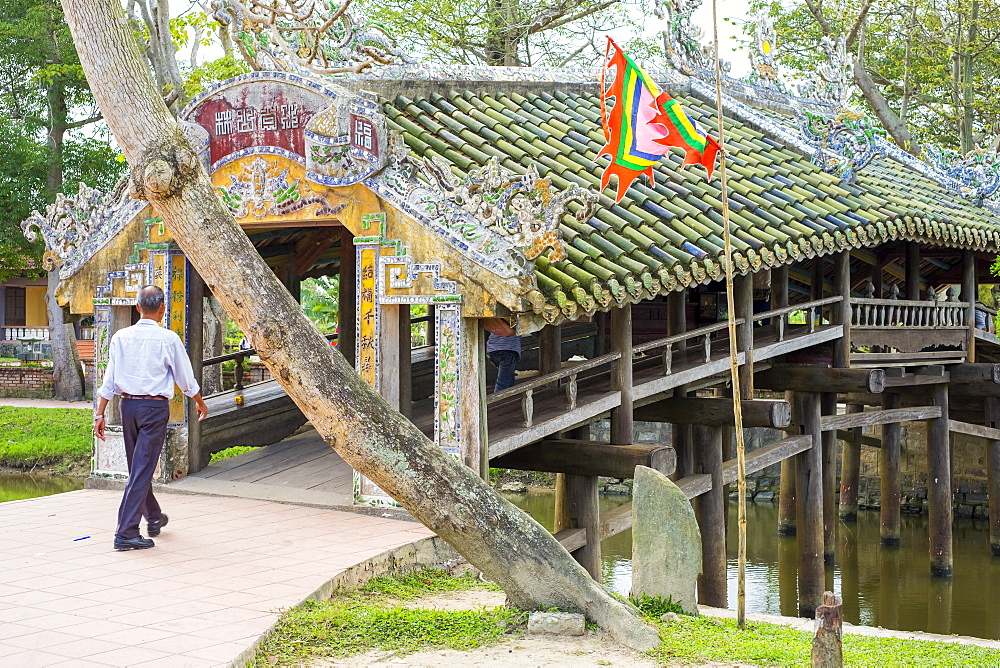 Thanh Toan Bridge, ancient Japanese bridge in Thuy Thanh village, Thua Thien-Hue Province, Vietnam, Indochina, Southeast Asia, Asia