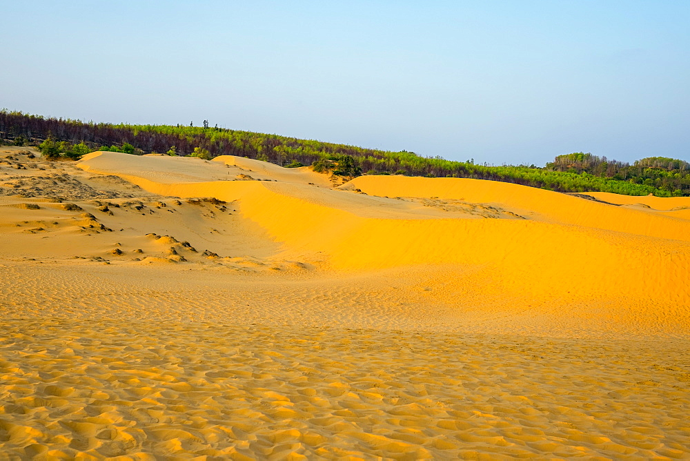 Red sand dunes at Mui Ne, Phan Thiet, Binh Thuan Province, Vietnam, Indochina, Southeast Asia, Asia
