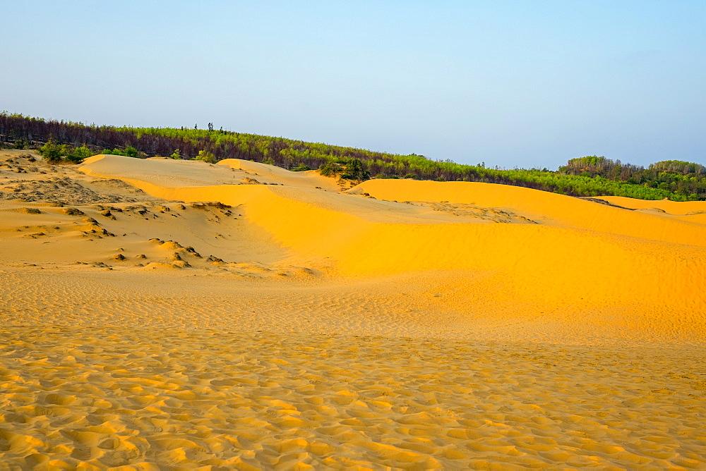 Red sand dunes at Mui Ne, Phan Thiet, Binh Thuan Province, Vietnam, Indochina, Southeast Asia, Asia