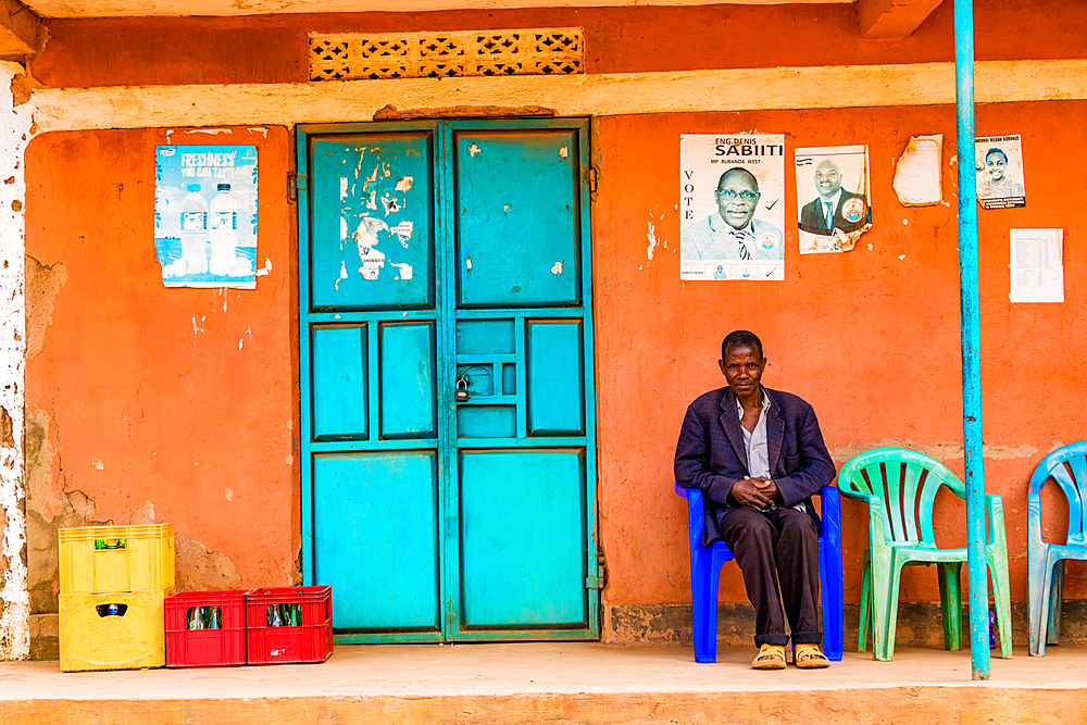 Colorful street life in Uganda