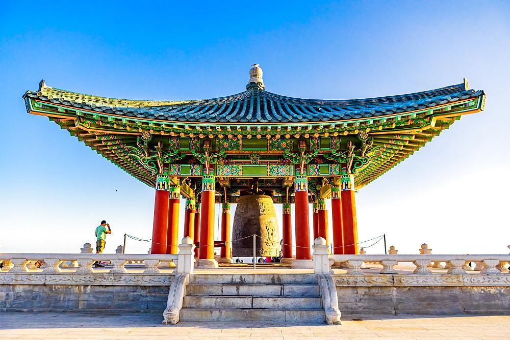 Korean Friendship Bell, San Pedro, California, United States of America, North America - 1218-1095