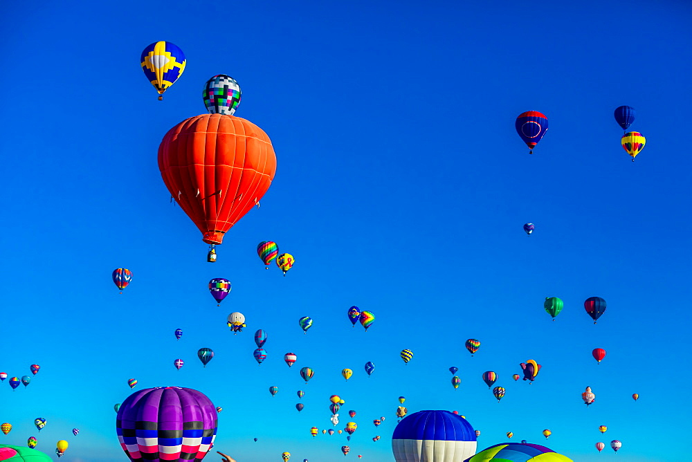 Fiesta Hot Air Balloon Festival, Albuquerque, New Mexico, United States of America, North America