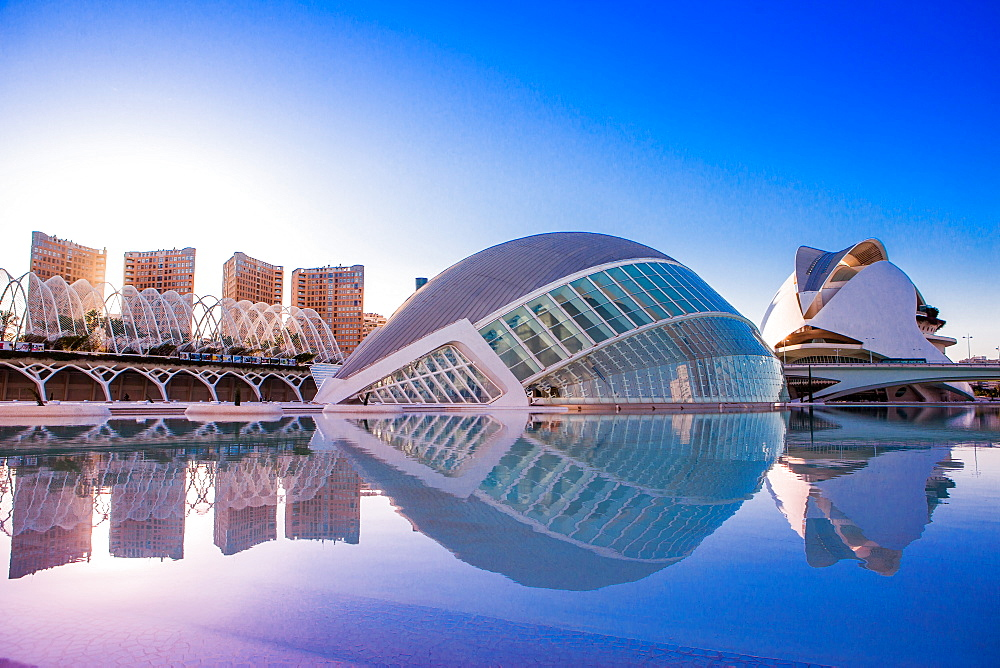 Hemispheric Buildings, City of Arts and Sciences, Valencia, Spain, Europe