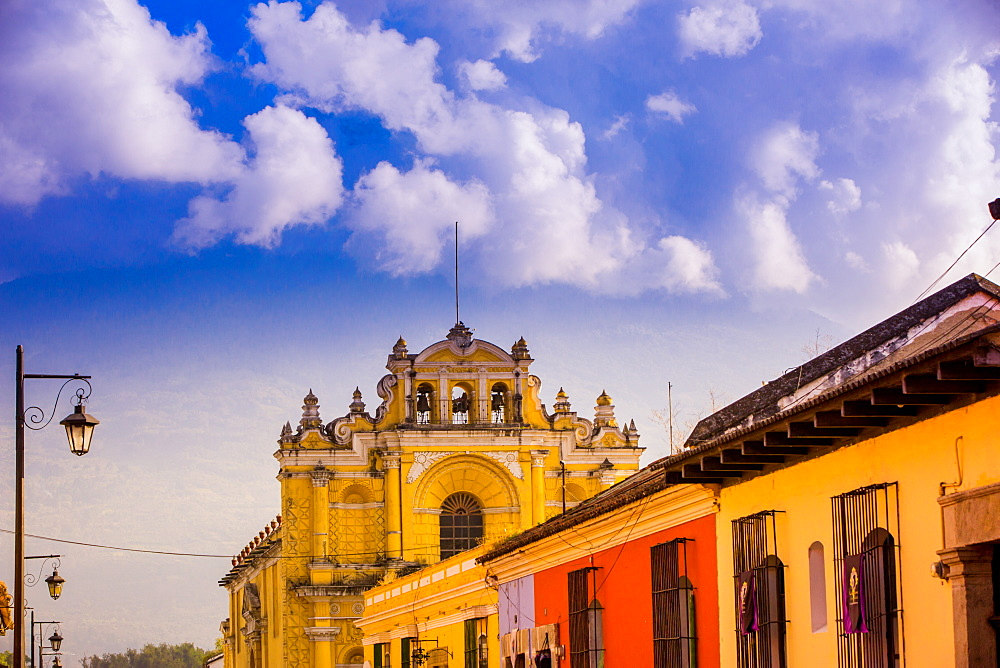 Street view in Antigua, Guatemala, Central America