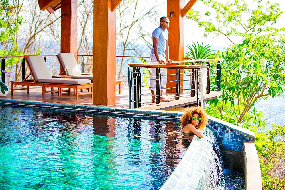 Couple enjoying the private villa at The Four Seasons Guanacaste, Costa Rica, Central America