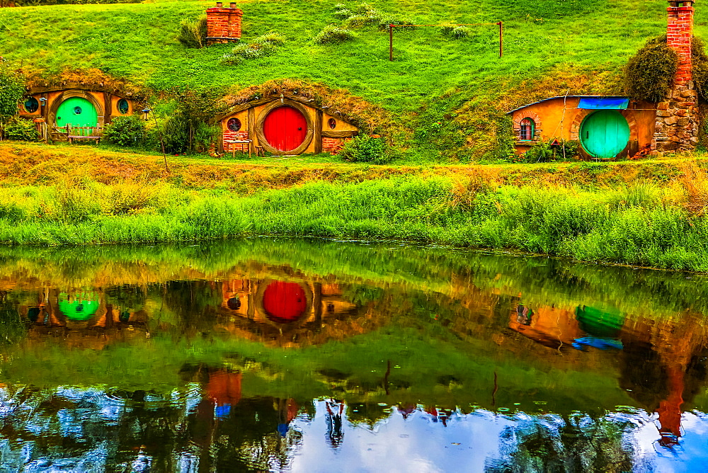 Hobbit Houses, Hobbiton, North Island, New Zealand, Pacific - 1218-158