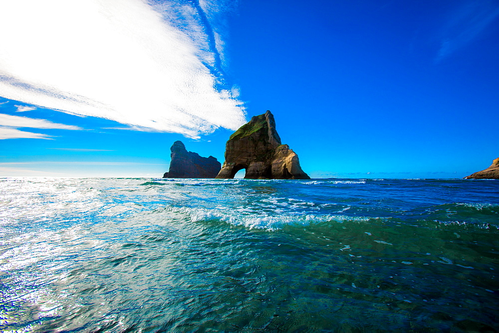 Rock Formations in Golden Bay, Tasman Region, South Island, New Zealand, Pacific