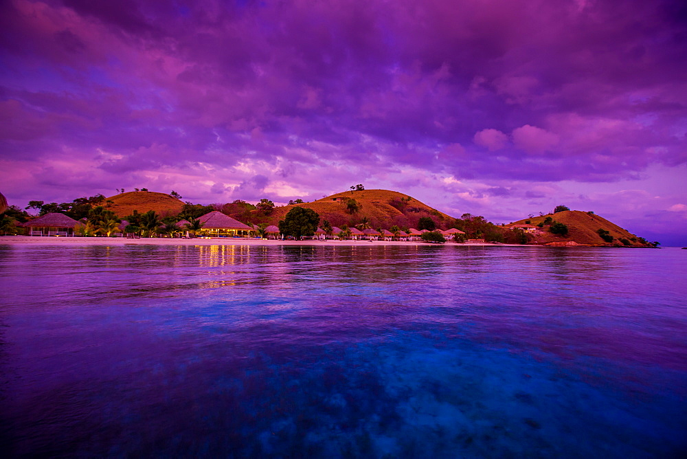 Sunrise over Hotel Seraya, Flores Island, Indonesia, Southeast Asia, Asia