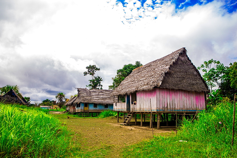 Amazon Village, Iquitos, Peru, South America