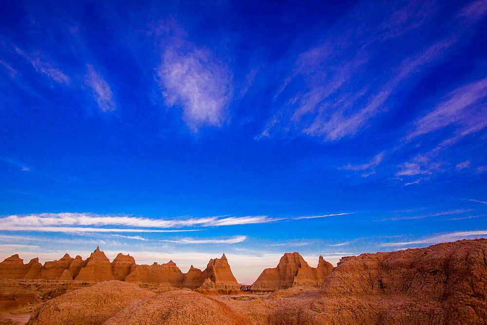 Sunrise at The Badlands, Black Hills, South Dakota, United States of America, North America