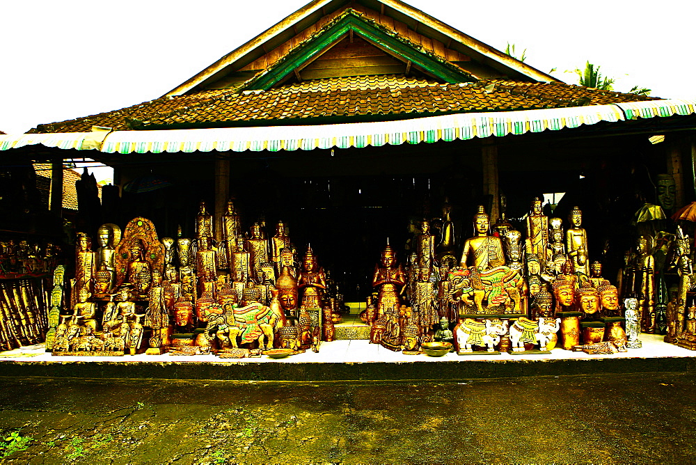 Woodcarving shop, Ubud, Bali, Indonesia, Southeast Asia, Asia