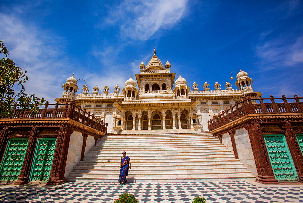 Main entrance to Jaswant Thada Tomb, Jodhpur, The Blue City, Rajasthan, India, Asia