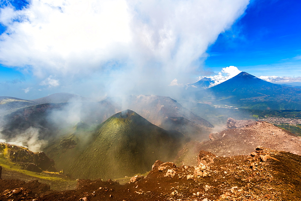 On the summit of the active Pacaya Volcano, Guatemala, Central America - 1218-445