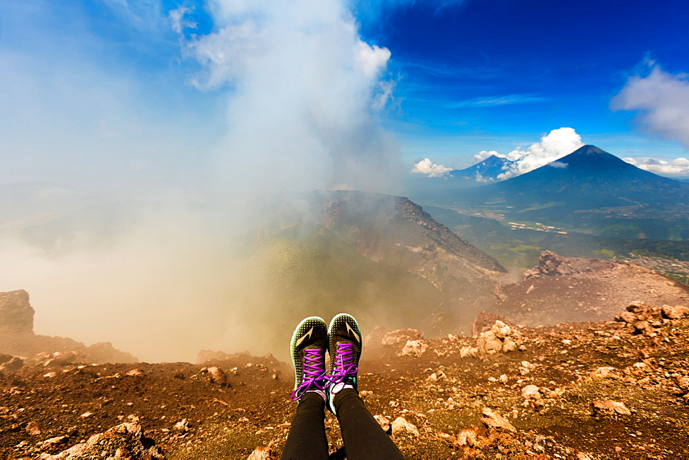 On the summit of the active Pacaya Volcano, Guatemala, Central America - 1218-447