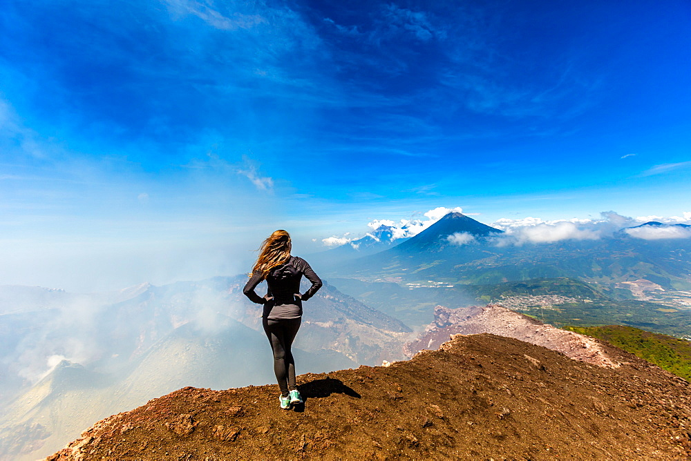 On the summit of the active Pacaya Volcano, Guatemala, Central America - 1218-448