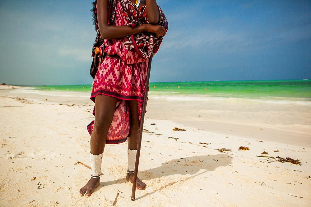 Portrait of a Maasai warrior, Zanzibar Island, Tanzania, East Africa, Africa