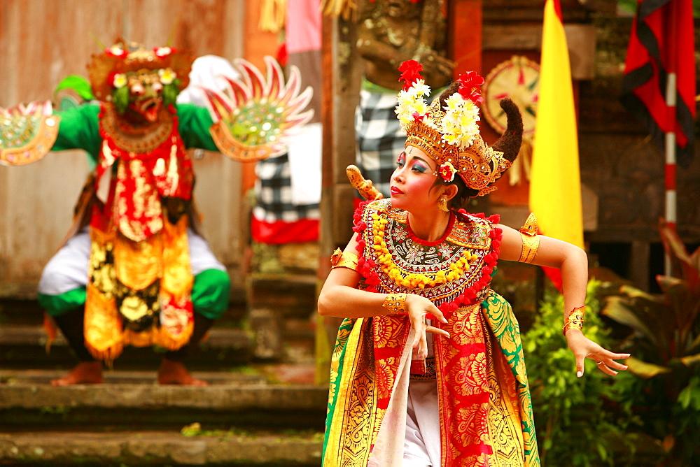 Barong dance, Ubud, Bali, Indonesia, Southeast Asia, Asia