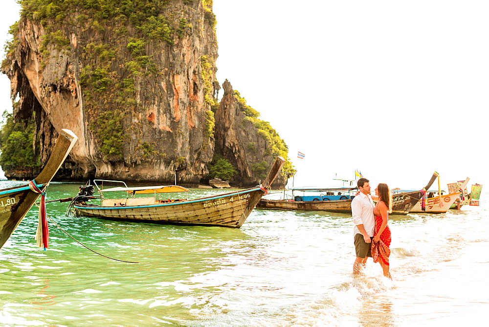 Sunset on Railay Beach in Krabi, Thailand, Southeast Asia, Asia - 1218-514