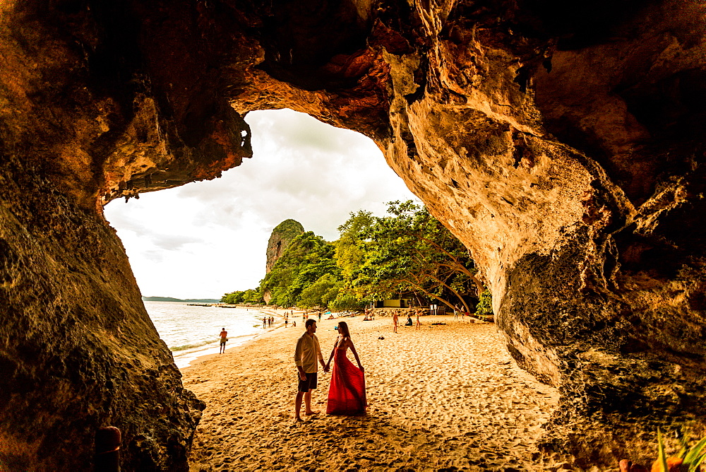 Sunset on Railay Beach in Krabi, Thailand, Southeast Asia, Asia - 1218-517