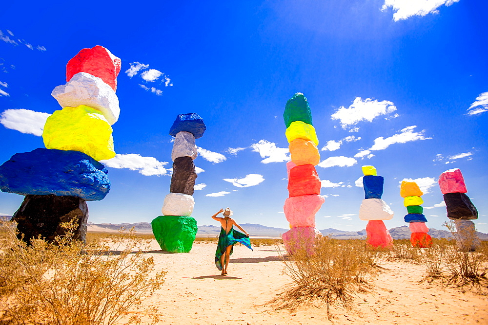 Seven Magic Mountains in Nevada, United States of America, North America - 1218-551