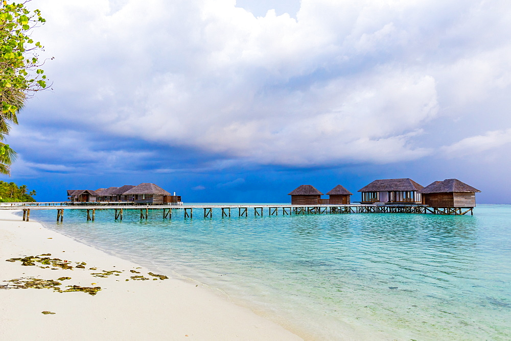 Beautiful scenery at Conrad Maldives Rangali Island.