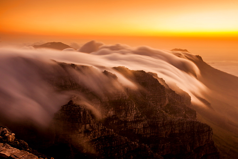 Clouds over Table Mountain, Cape Town, South Africa, Africa - 1218-66
