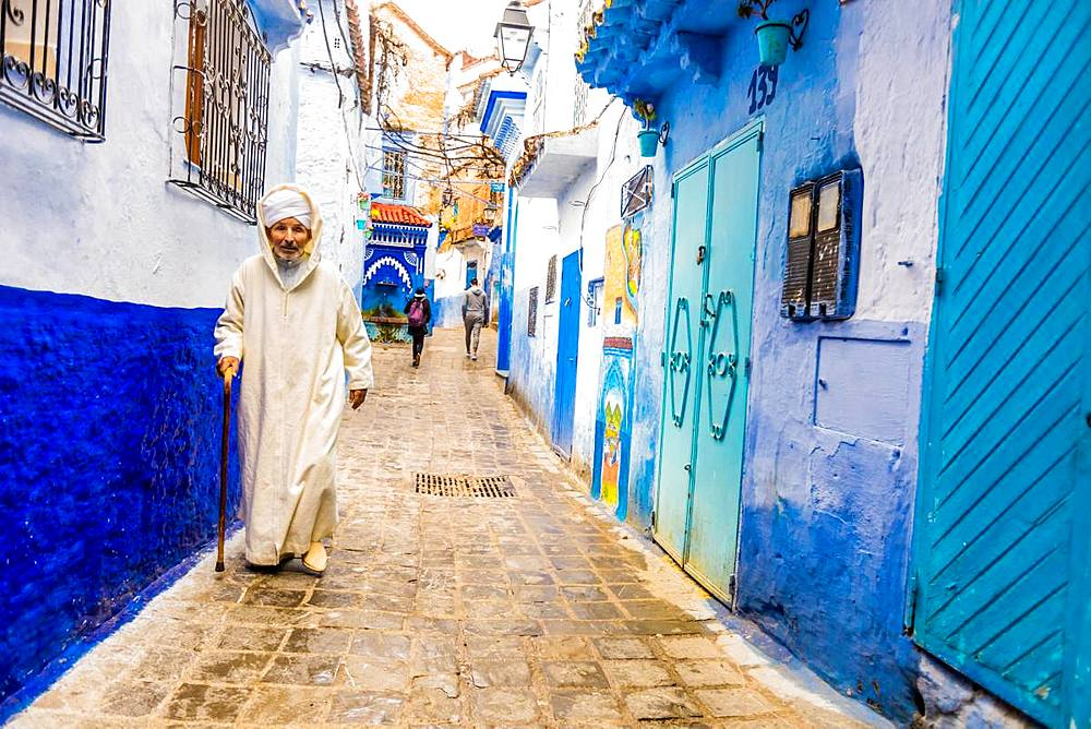 Blue City of Chefchaouen, Morocco, North Africa, Africa - 1218-677