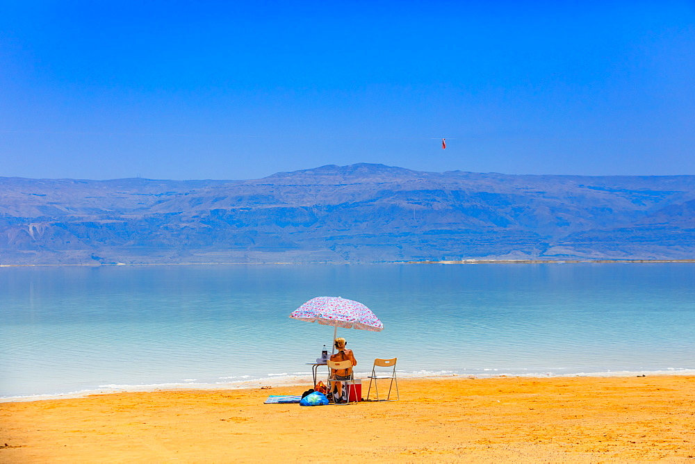 Fun in the Dead Sea in Israel, Middle East - 1218-692