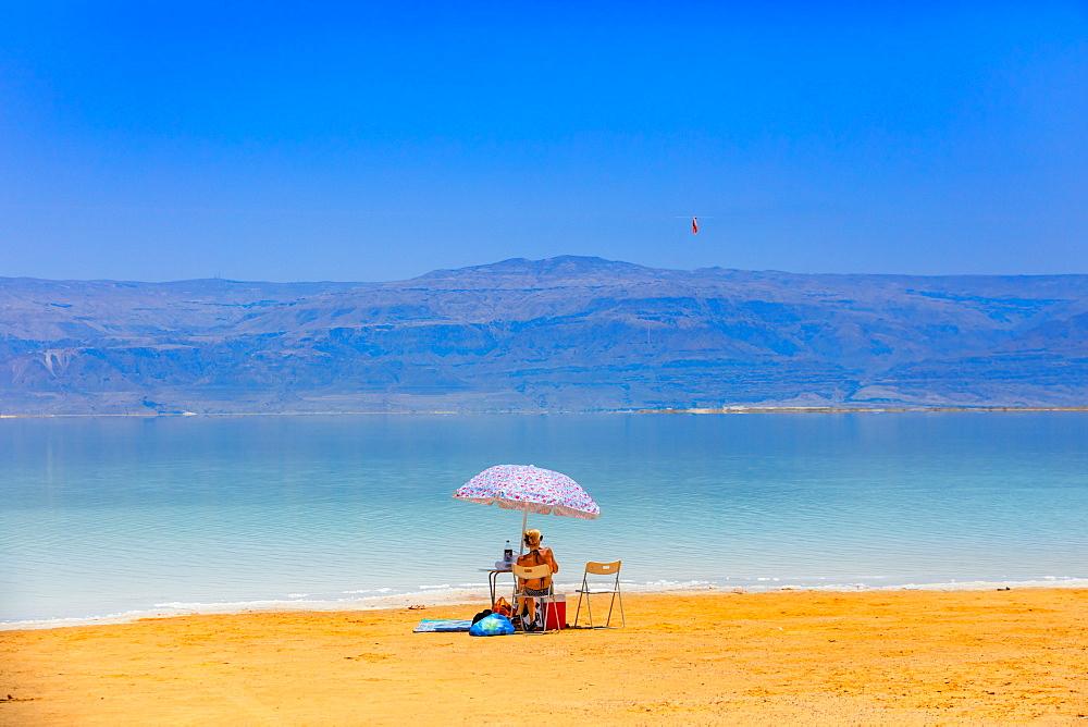 Fun in the Dead Sea in Israel, Middle East