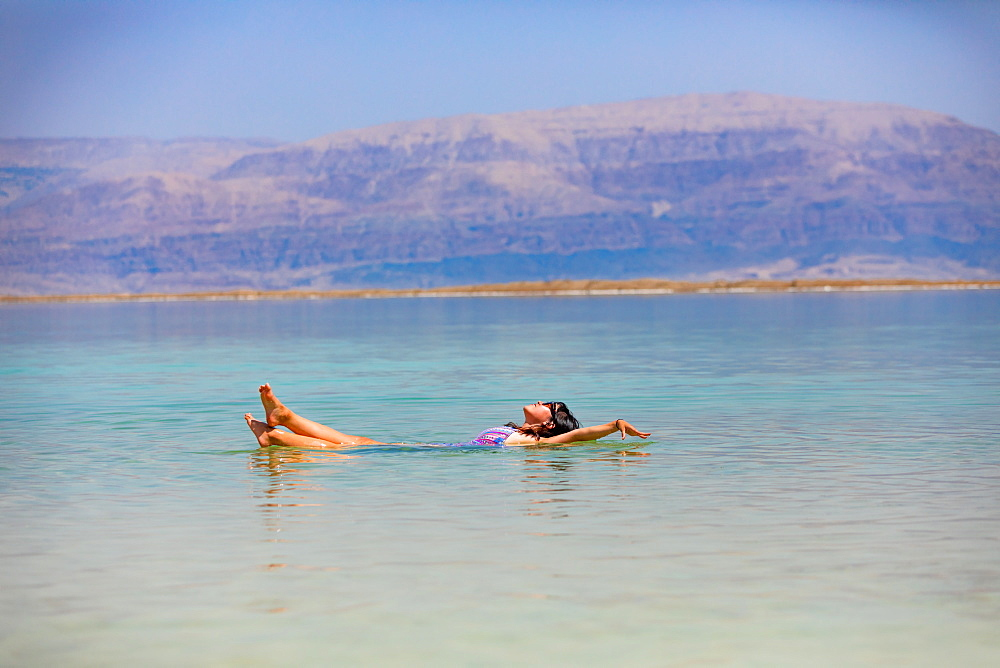 Fun in the Dead Sea, Israel, Middle East - 1218-694