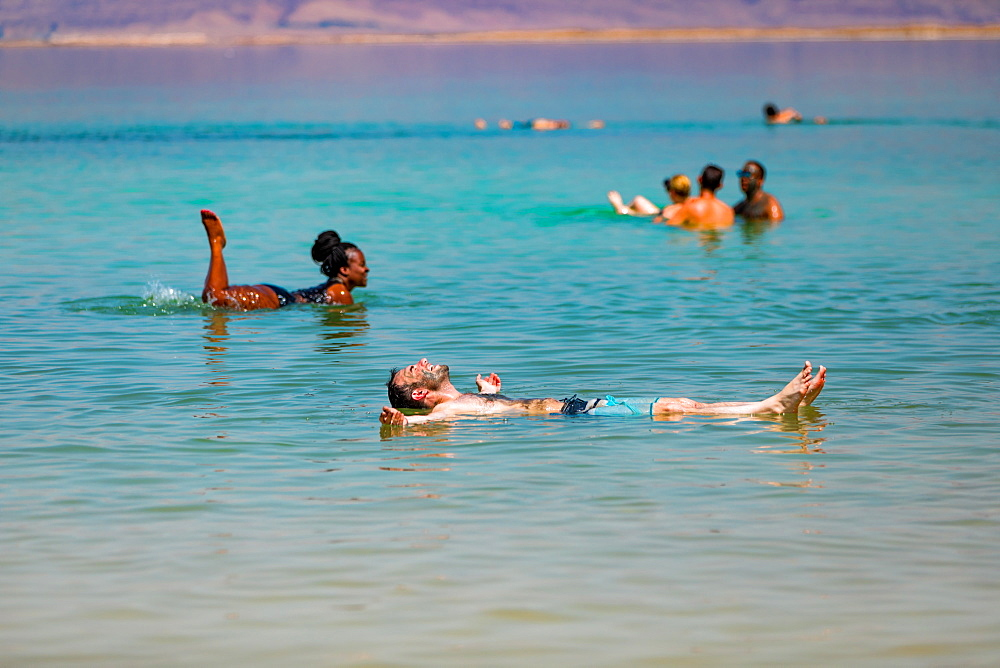 Fun in the Dead Sea, Israel, Middle East - 1218-696