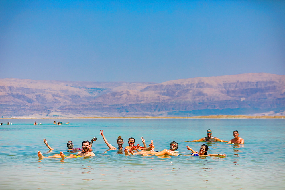 Fun in the Dead Sea, Israel, Middle East - 1218-697