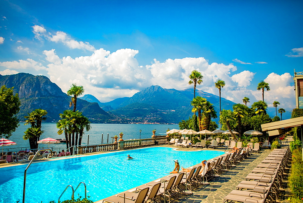Scenic View from Castello di Rossino in Lake Como, Italy.
