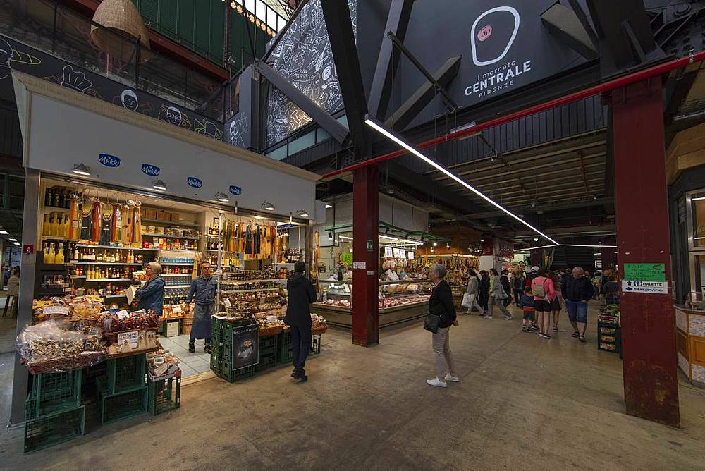 The central market (Mercato Centrale) in Florence, Tuscany, Italy, Europe - 1219-241