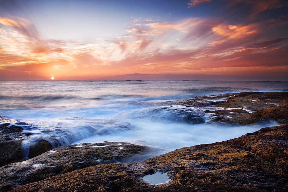 Sunset, western shore of Tenerife in the Canary Islands, Spain, Atlantic, Europe