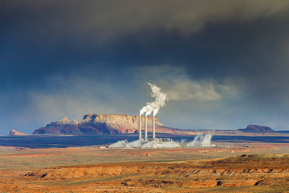 Navajo Generating Station, Navajo Indian Reserve, Page, Arizona, United States of America, North America