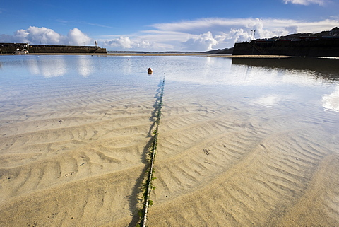 Inner harbour in morning sunshine at St. Ives, Cornwall, England, United Kingdom, Europe