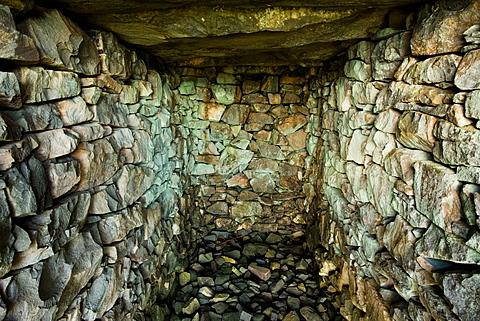 Blast shelter high in the Nant Gwrtheyrn slate quarries, Llyn Peninsula, North Wales, United Kingdom, Europe