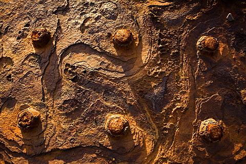 Rusty boiler high in the Nant Gwrtheyrn slate quarries, Llyn Peninsula, North Wales, United Kingdom, Europe
