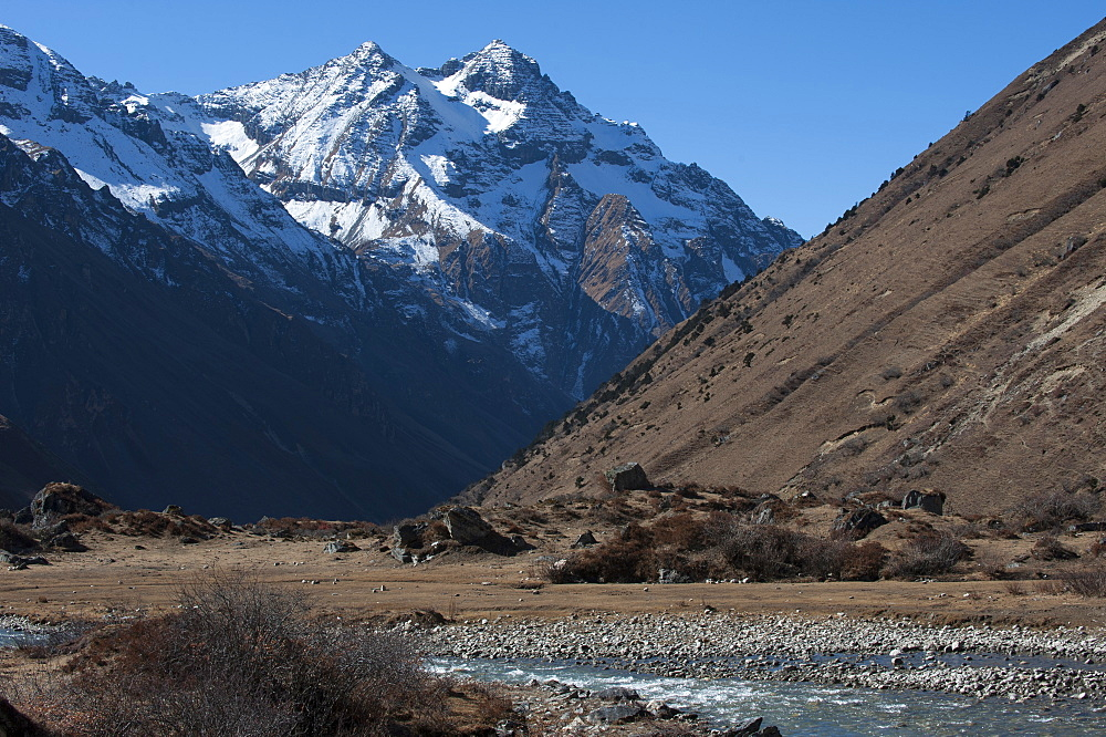 Jangothang valley in Bhutan