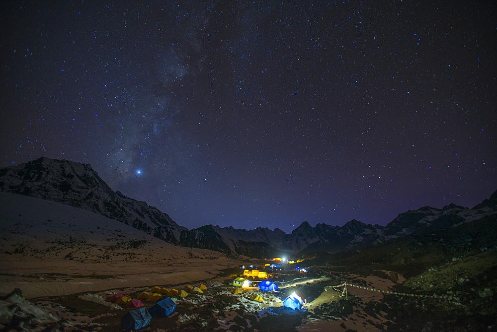 Ama Dablam base camp, Himalayas, Nepal, Asia