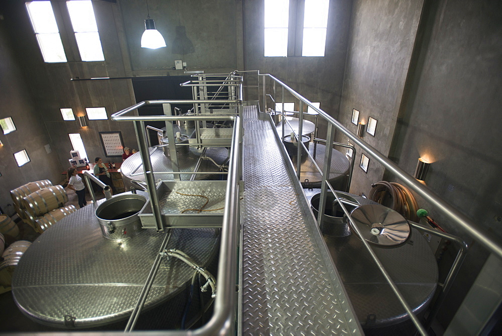 Wine in fermentation tanks in the Uco Valley near Mendoza in Argentina