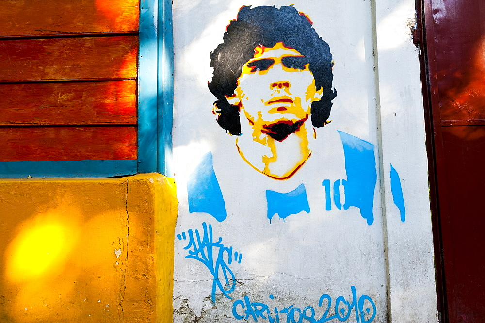 Diego Maradona is a legend in Argentina, South America
