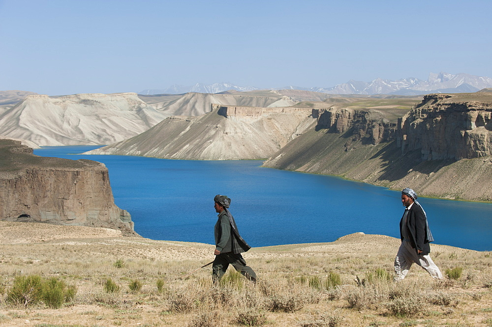 The brilliant blue lakes of Band-e Amir in central Afghanistan supposedly have amazing healing powers, Afghanistan, Asia